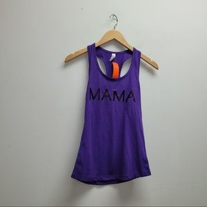 Purple New Mama Tank Top Small